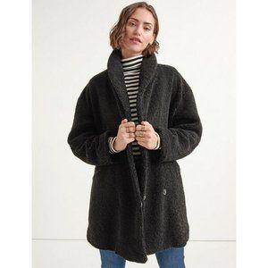 LUCKY BRAND Black Shearling Teddy Coat